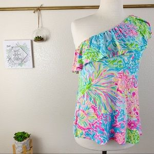 Lilly Pulitzer Neveah One Shoulder Sz Large